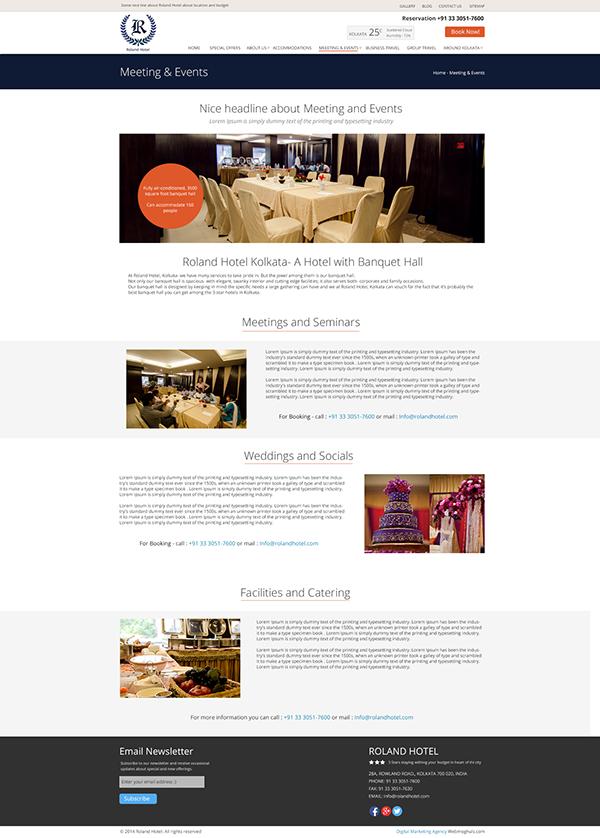 Hotel Website Design On Pantone Canvas Gallery