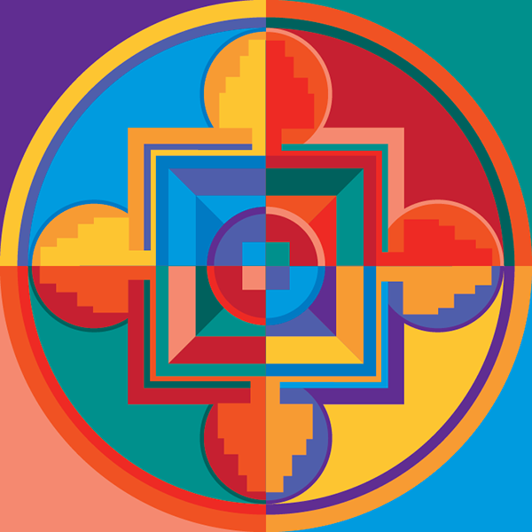 Color Theory Project Created In Adobe Illustrator Radial Symmetry With Split Complementary And Double Diagonals