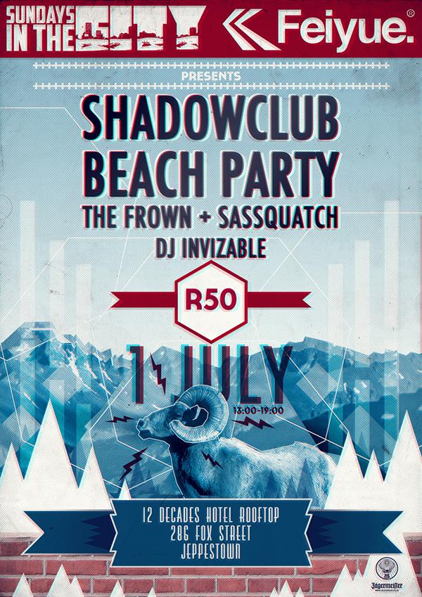 shadowclub beach party the frown sassquatch dj invizable Feiyue last dinosaurs  shortstraw holiday murray Christian Tiger School Skelemton Half 'n half
