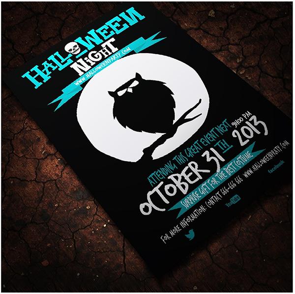 Halloween Adobe Illustrator Flyer Template on Behance