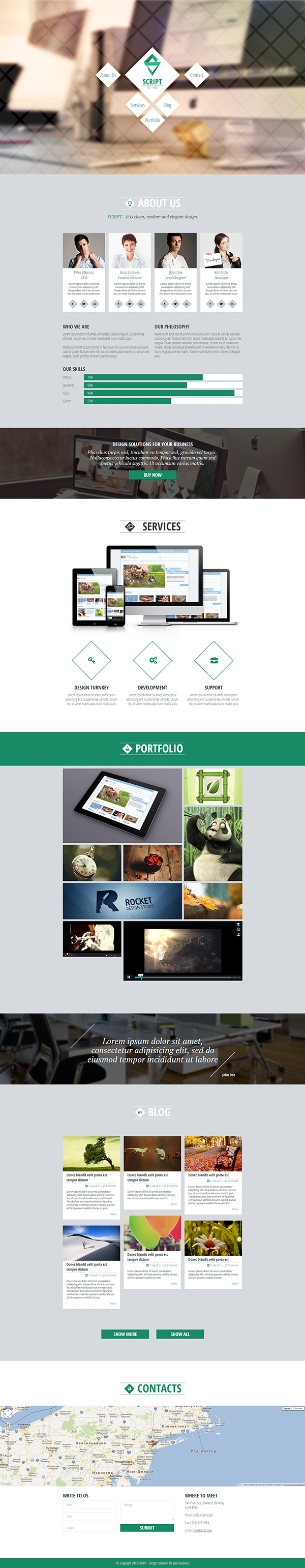 Script Html5 One Page Template On Behance