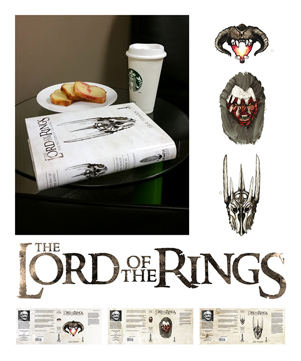 Book Cover Design Jobs Canada : Lord of the rings trilogy cover revamp on behance
