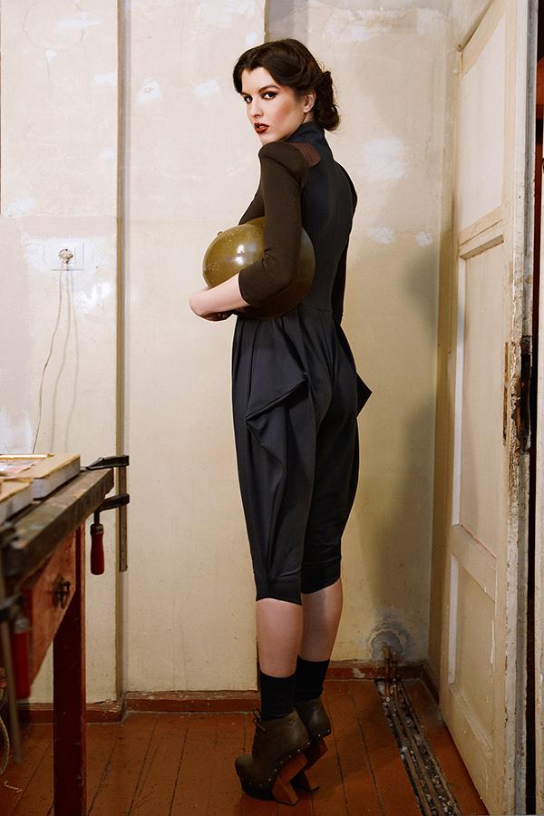 knapp 40's dress Retro costume Peplum   pencil skirt