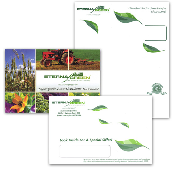eternagreen postcard  letterhead  u0026 envelope