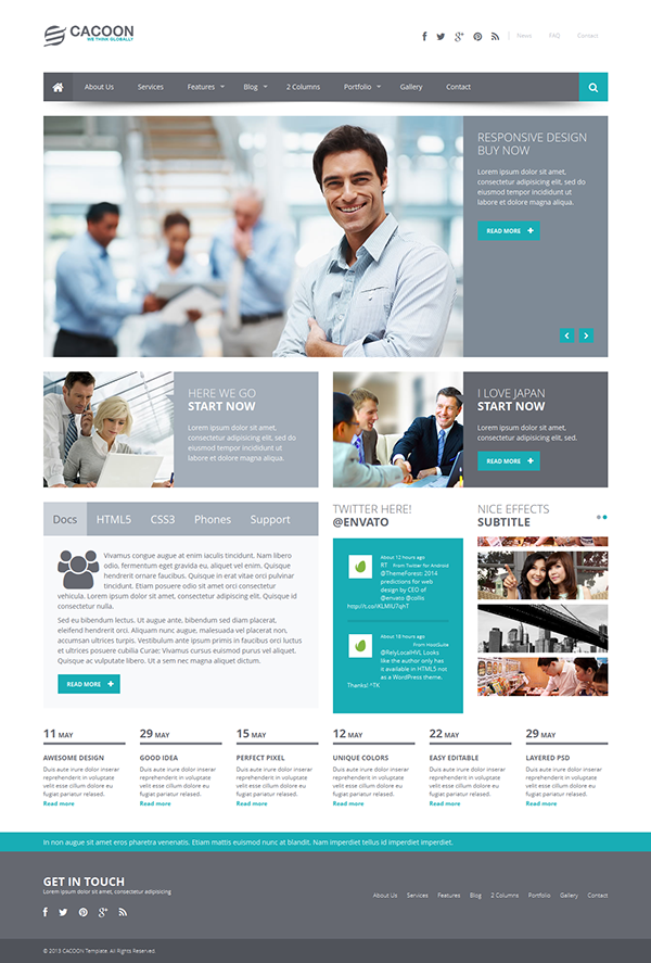 Cacoon responsive business joomla template on behance fbccfo Image collections
