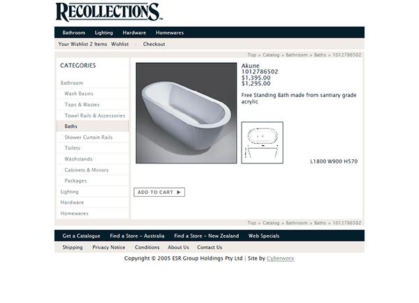 homewares Ecommerce Catalogue