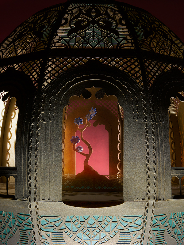pattern city Faberge eggs cut Lasercut paper iridescent props set styling  handmade