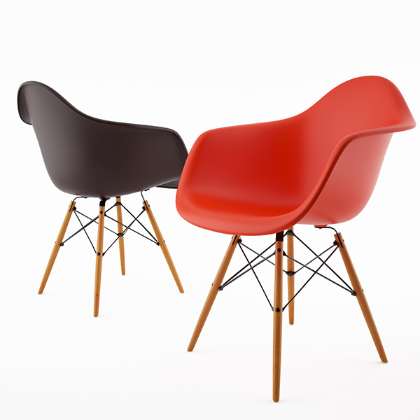 Free 3d model: Armchair DAW by Vitra Eames on Behance