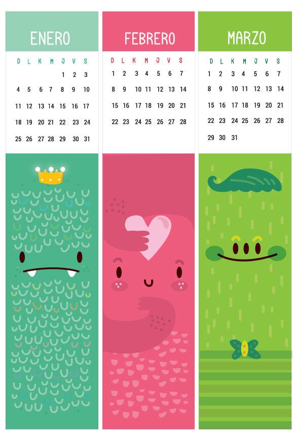 Calendar Bookmark : Calendar bookmark design on adweek talent gallery