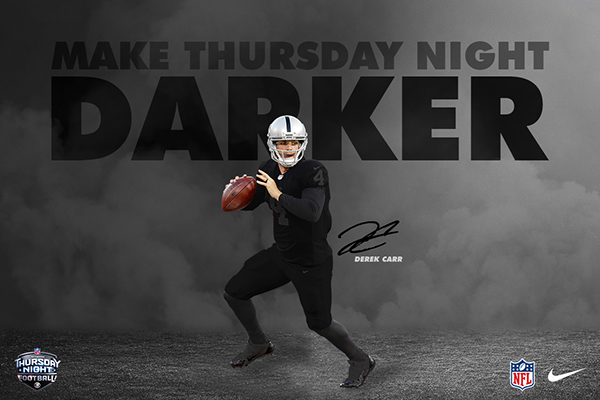 Nike 2018 Oakland Raiders Color Rush Blackout On Behance