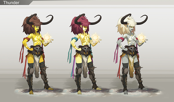 Character fantasy warriors fighters thunder