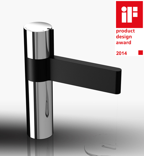 Milli axon mixer range on industrial design served for Bathroom design awards 2013