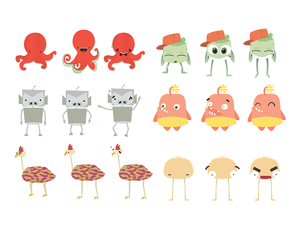 Game Design Character Classes : Mobile game character design on behance