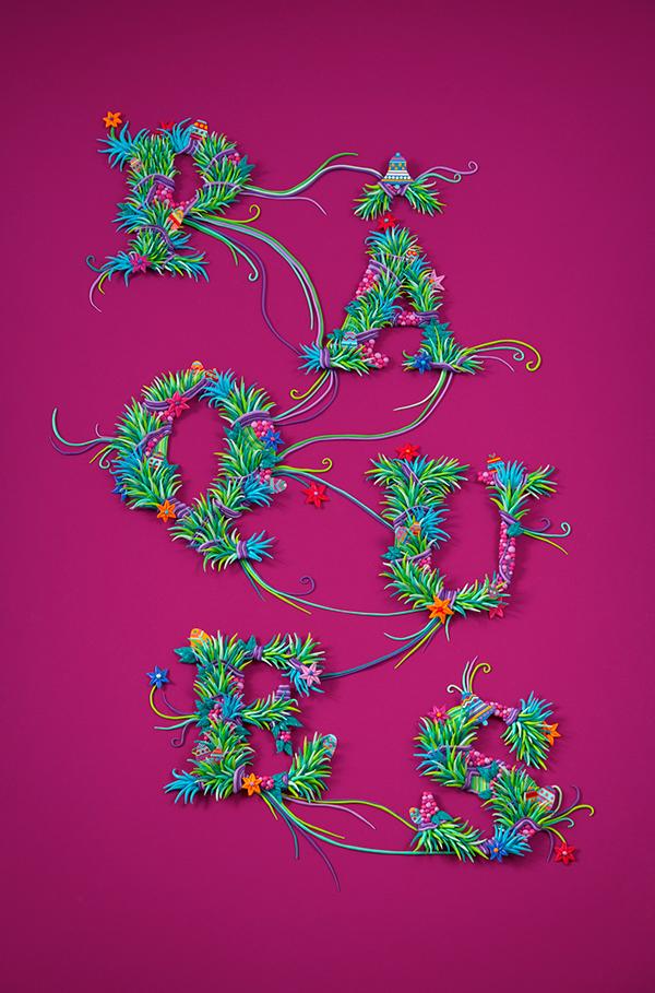 zim and zou bnp type Plasticine Easter Pâques spring font