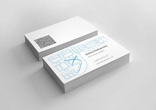 Ui designer business card on behance wajeb Images