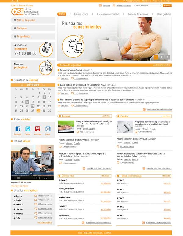 Oficina de seguridad del internauta on behance for Oficina seguridad internauta