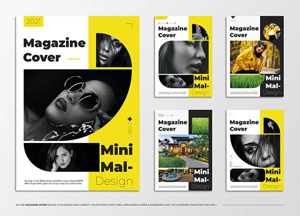 Minimalist Magazine Cover Page Design