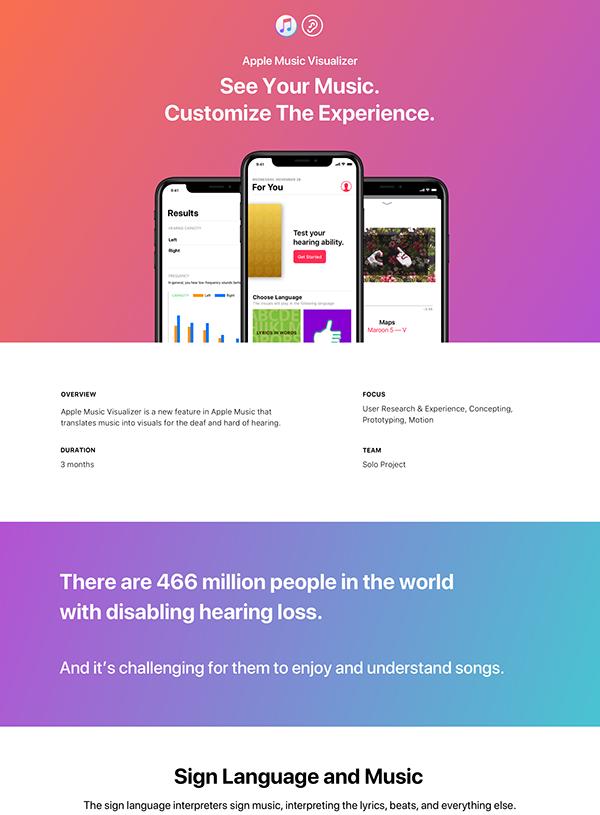 Apple Music Visualizer - Adobe Design Achievement Awards