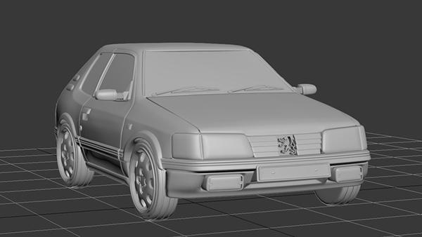 3d modeling  Car PEUGEOT