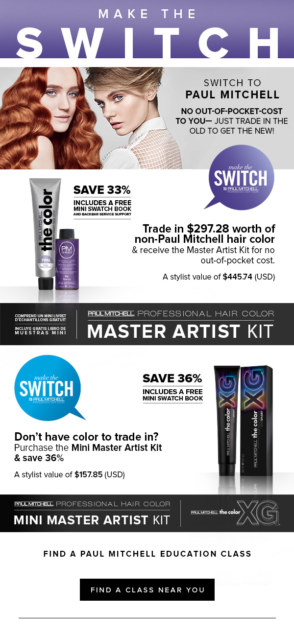 Cosmoprof Email Design For Paul Mitchell On Behance