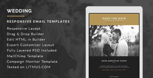Wedding Invitation Email Template Builder Access On Behance - Mailchimp psd template