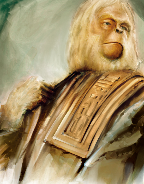 Planet of the Apes Evolution Paintings on Behance
