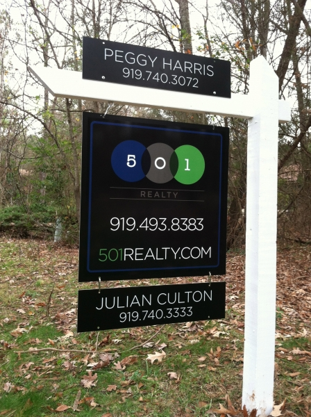 realty identity brand logo Collateral stationary Yard Sign Signage