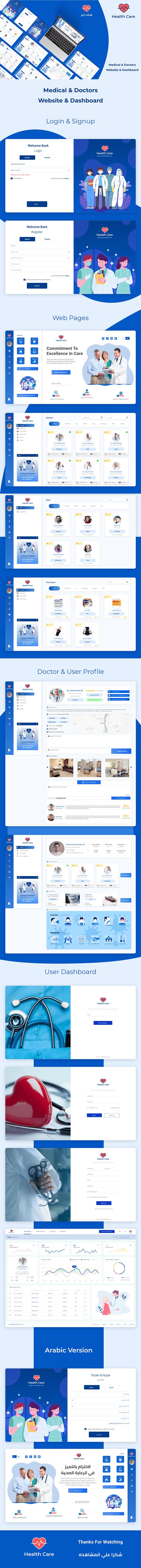 Health Care | UI UX Web Design