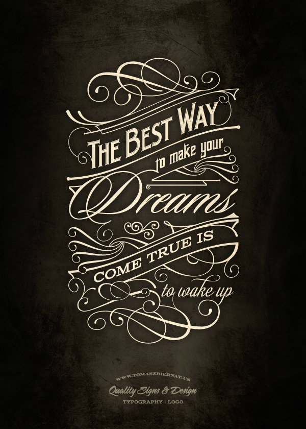 The Best Way - Typography poster