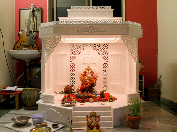 On behalf of shree ganesh on behance for Ganapati decorations home