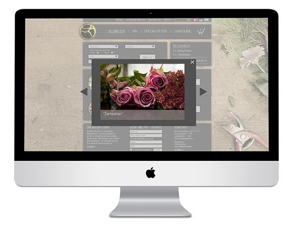 interflora Web design Corporate Identity online shop