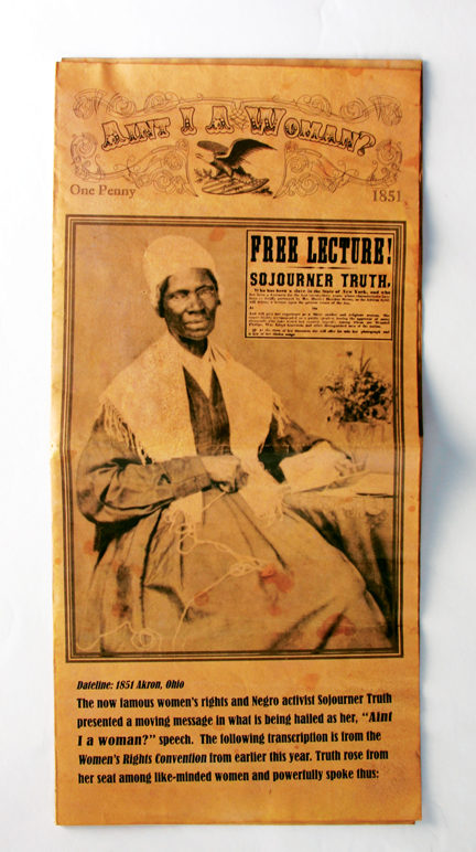 sojourner truth aint i a woman On may 29, 1851, sojourner truth, an abolitionist and former slave, gave one of history's most memorable speeches on the intersection between women's suffrage and black rights speaking to the .