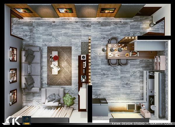 Hsm Livingroom Kitchen On Behance