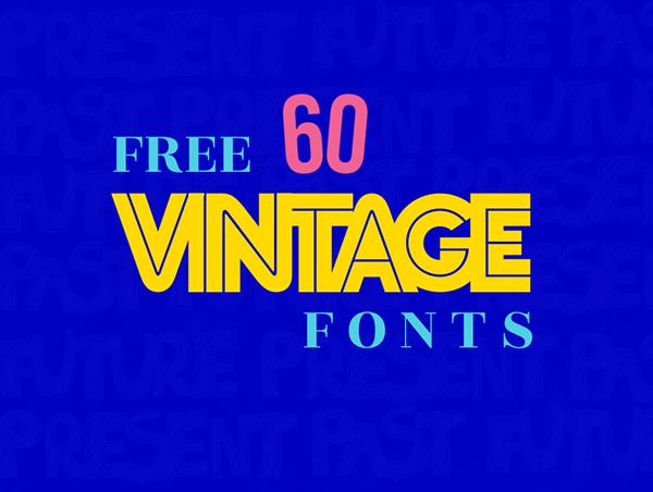 60 Free Vintage Fonts