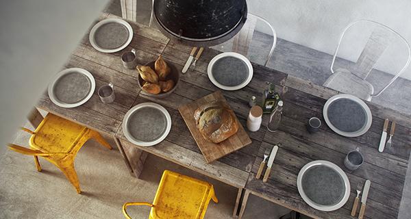 Scandinavian nordic design restaurant 3D 3D illustration interiors visualization archviz