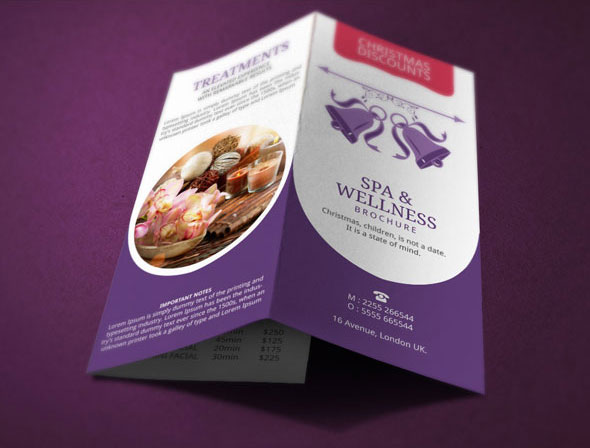 Spa Brochure Design Christmas Deals On Behance