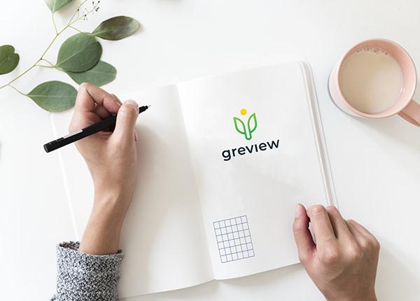 Green View Logo Branding