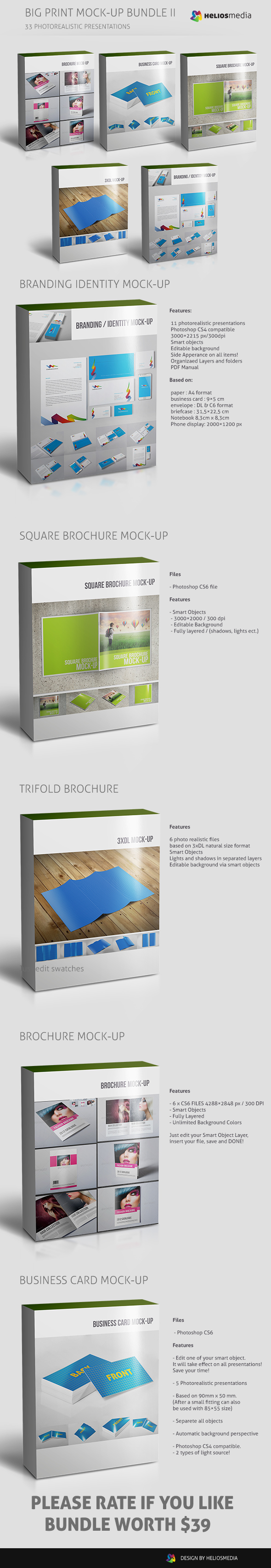 Big print mock up bundle on behance httpgraphicriveritemsquare brochure mockup4801891 reheart Image collections