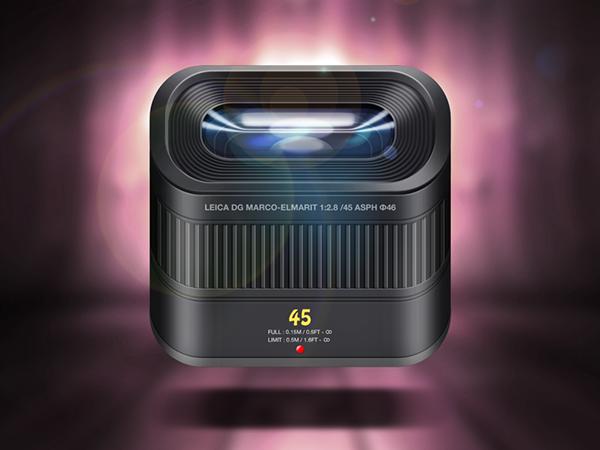 background brand phone ios Icon reflections lights Shadows photo camera modern lens Leica