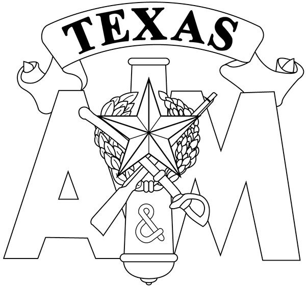 logos and artwork on behance Pan AM Logo Design line art vector drawing of tamu corps logo for use in embroidery and engraving