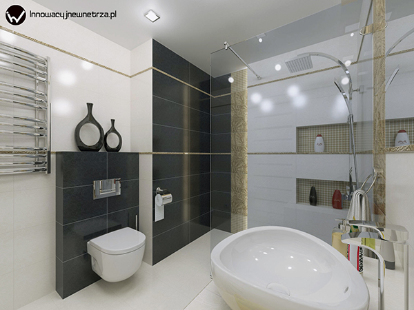5m2 bathroom in cracow with parady ricoletta tiles on behance ForBathroom Design 5m2