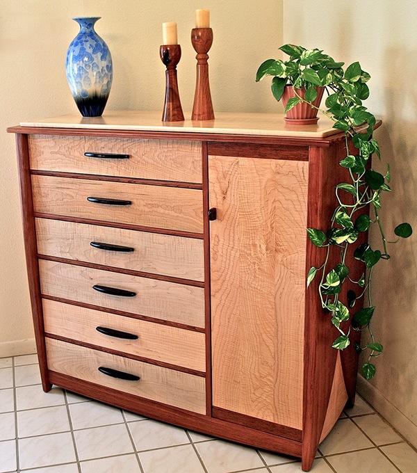 12 Drawer Dresser In Bubinga U0026 Curly Maple On Behance