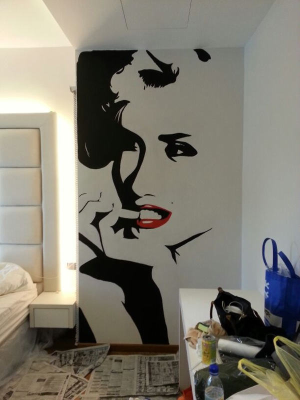 The Client Wanted Marilyn Monroe Portraits On Both Sides Of Her Bed In A  Simple And Elegant Style, Hence The Use Of Only Smooth Black And White  Paint With A ... Part 80