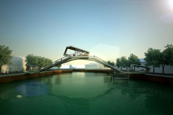 Amsterdam iconic pedestrian bridge on behance for Design bridge amsterdam