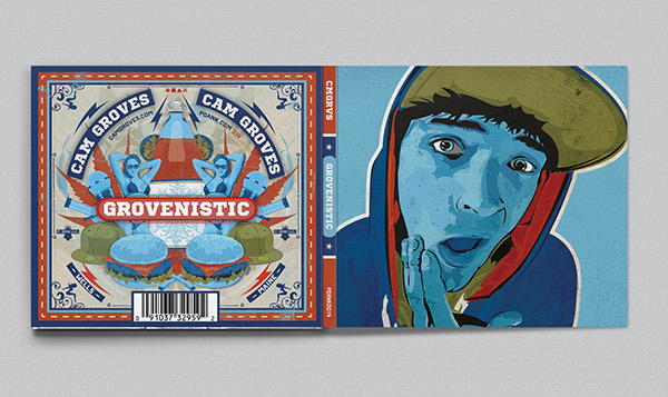 Vector Illustration, Album cover,Album Cover Design,CD cover,hip hop,cam groves,walter craven,pdank,spose,Baby Blue,grovenistic,Maine