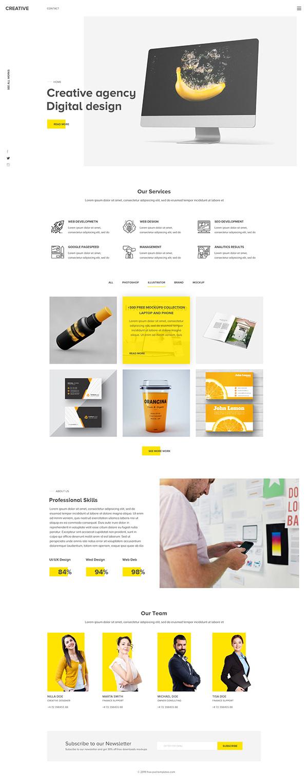 Professional UI Design Template