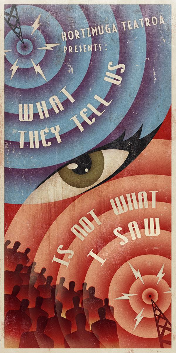 agitprop russian constructivism Propaganda politics Soviet vintage Retro poster mass media comunication red blue eye Radio