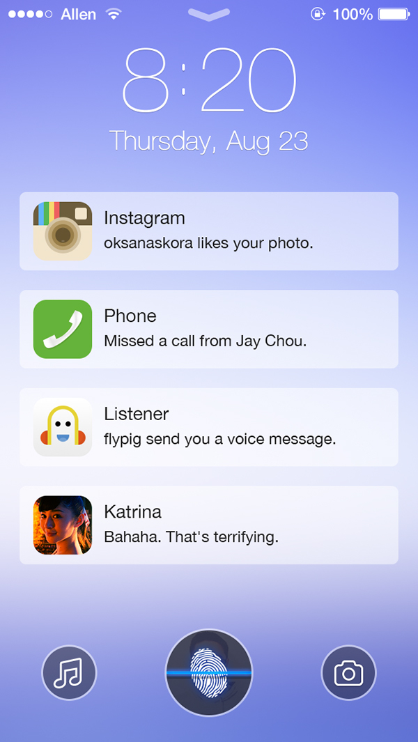 ios 7 lockscreen and iphone 5s template psd on behance