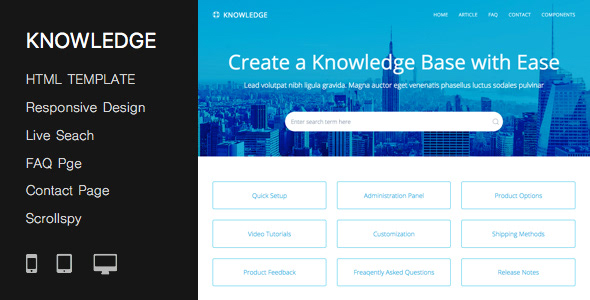 Responsive Knowledge Base Faq Html Template On Student Show