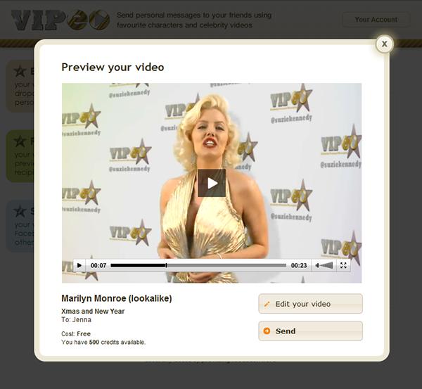 Celebrity video ecards